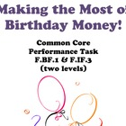 Common Core Performance Task F.BF.1 & F.IF.3 Interest