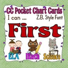 Common Core Pocket Chart Cards for First Grade (I can . . 