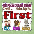 Common Core Pocket Chart Cards for First Grade (I will . .