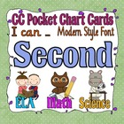 Common Core Pocket Chart Cards for Second Grade (I can . .