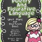 Common Core Poetry and Figurative Language Unit- 3-4-5 Les