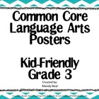 Common Core Posters - 3rd Grade Language Arts &amp; Math Bundl