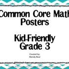 Common Core Posters - 3rd Grade Math