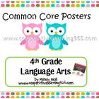 Common Core Posters - 4th Grade Language Arts & Math Bundl