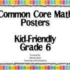 Common Core Posters - 6th Grade Math