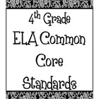 Common Core Posters - ELA 4th Grade