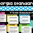 Common Core Posters Pack 3rd Grade Math & ELA (and GA Scie