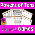 Common Core: Powers of Ten Using Exponents!!