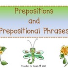 {Common Core} Prepositions/Prep Phrases, Task Cards, Poem,