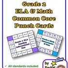 Common Core Punch Cards for Grade 2: All Standards Included