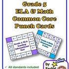 Common Core Punch Cards for Grade 5: All Standards Included