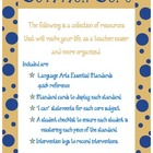Common Core Quick Reference/Cards Language Arts