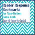 Common Core Reader Response Bookmarks for Non-Fiction Book Club