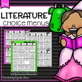 Common Core Reading Choice Boards {Literature - 2nd Grade}