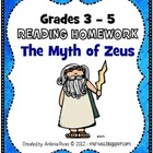 Common Core Reading Homework: The Myth of Zeus