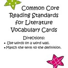 Common Core Reading Literature Vocabulary {Test Prep}