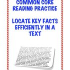 Common Core Reading RI.2.5: Locate Key Facts Efficiently i