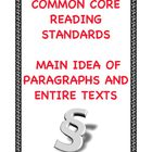 Common Core Reading RI.2.2 and RI.3.2: Main Idea of Paragr
