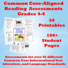 Common Core Reading Standards Assessments: 90+ Student Pages