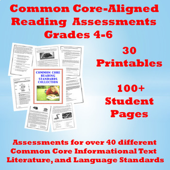 Common Core Reading Standards Assessments: 80 Student Pages