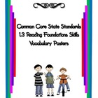 Common Core Reading Vocabulary Reading Foundation Skills 1.3