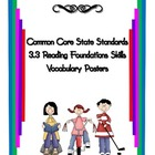 Common Core Reading Vocabulary Reading Foundation Skills 3.3