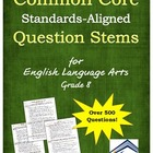 Common Core Sample Question Stems for ELA: Grade 8
