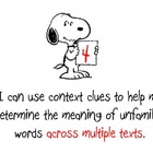 Common Core Scale - Context Clues