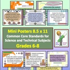 Common Core Science & Technical Subjects Mini Posters Grade 6-8