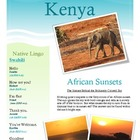 Common Core: Science and Art - Kenyan Sunsets (Includes &quot;T