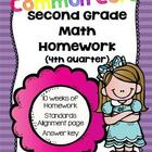 Common Core Second Grade Math Homework-4th Quarter