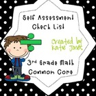 Common Core Self Assessment Check List {3rd Grade Math}