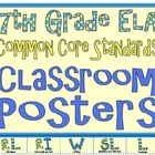 Common Core Seventh Grade ELA Posters (I can . . . )