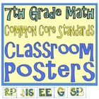 Common Core Seventh Grade Math Posters (I can . . . )