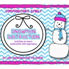 Common Core Snowman Subtraction with Regrouping 2.NBT.7