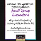 Common Core Speaking & Listening Rubric: Group Discussions