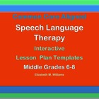 Common Core  Speech Language  Interactive Lesson Plan Temp