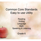 Common Core Standands - Print and Keep Track - Grade 6