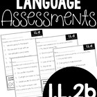 Common Core Standard Language Arts Assessment 1.L.2 (1.L.2b)