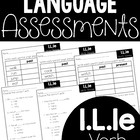 Common Core Standard Language Arts Assessment 1.L.2 (1.L.2e)