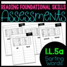 Common Core Standard Language Arts Assessment 1.L.5 (1.L.5a)