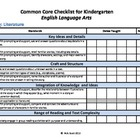 Common Core Standards Checklist Kinder-ELA