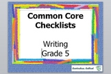 Common Core Standards Checklist for Writing Standards Grade 5