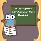 Common Core Standards ELA Checklist for 11-12th Grade