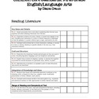 Common Core Standards ELA Fifth Grade Checklist