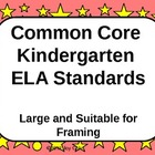 Common Core Standards - ELA Kindergarten - Large/Red
