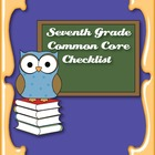 Common Core Standards ELA & Math Checklist for Seventh Grade