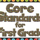 "Common Core Standards - First Grade ""I Can"" Statements (Colorful)"