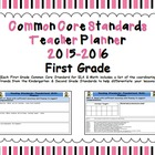 Common Core Standards First Grade Teacher Planner 2013-2014