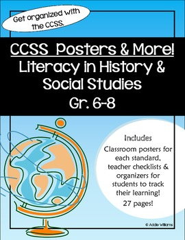 Common Core Standards - History/Social Studies Gr 6-8 Post